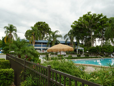 Pool and Riverview Building